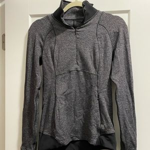 Lululemon Black and Grey Quarter Zip Size Small
